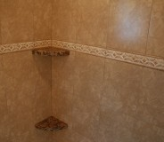 Custom granite shower shelves done by RMG